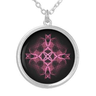 Cruz céltica del rosa alternativo del gótico colgante redondo