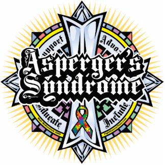 Cruz céltica del síndrome de Asperger Fotoescultura Vertical
