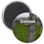 Cruz céltica en Escocia Imán Para Frigorífico