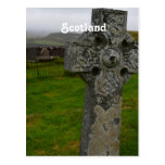 Cruz céltica en Escocia Tarjetas Postales