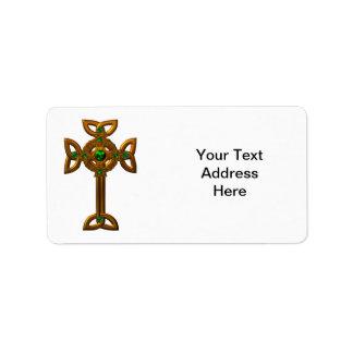 Cruz céltica etiquetas de dirección