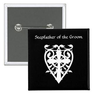 Cruz céltica gótica en padrastro del blanco del co pin
