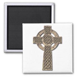 Cruz céltica imán cuadrado