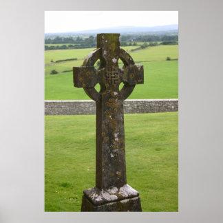 Cruz céltica Irlanda Póster
