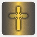 Cruz céltica (oro) etiqueta
