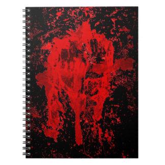 Cruz céltica pagana gótica sangrienta spiral notebooks