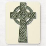 Cruz céltica - piedra alfombrilla de ratón