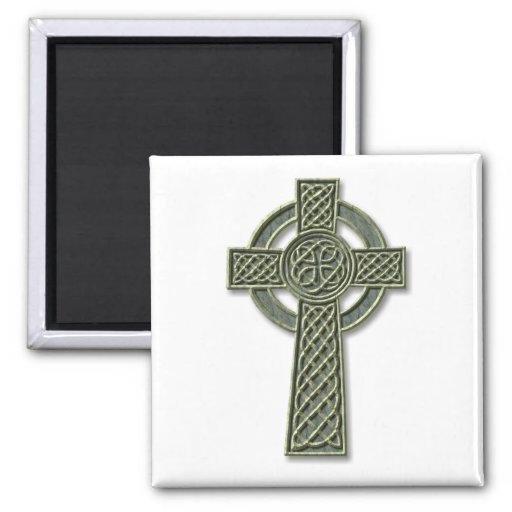 Cruz céltica - piedra iman de frigorífico