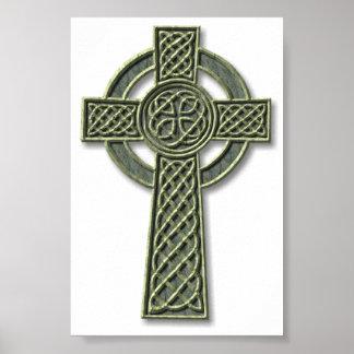 Cruz céltica - piedra póster