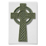 Cruz céltica - piedra posters