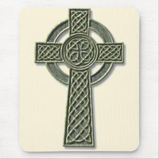 Cruz céltica - piedra tapetes de ratón