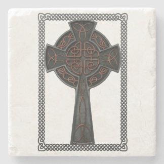 Cruz céltica posavasos de piedra