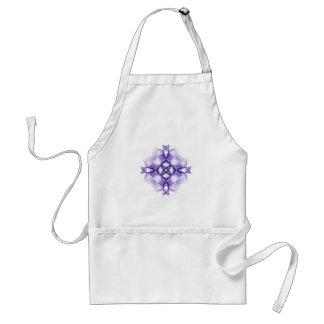 Cruz céltica púrpura delantal