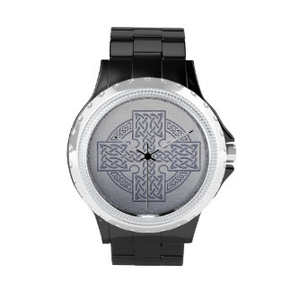 cruz céltica reloj de mano