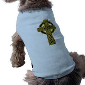Cruz céltica camiseta de perro