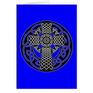 Cruz céltica - tarjeta de felicitación