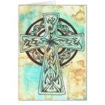 Cruz céltica tarjetas