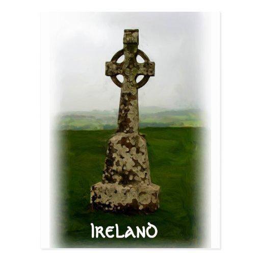 Cruz céltica tarjetas postales