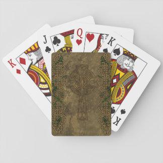 Cruz céltica y nudos célticos barajas de cartas