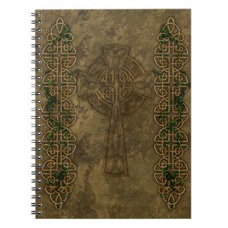 Cruz céltica y nudos célticos libreta espiral