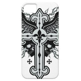 Cruz coa alas cráneo iPhone 5 Case-Mate carcasas