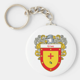 Cruz Coat of Arms (Mantled) Keychain