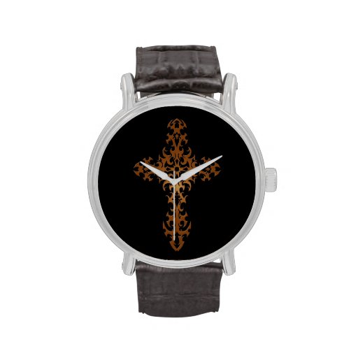 Cruz compleja de Brown en negro Reloj