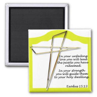 cruz con escritura iman para frigorífico