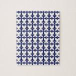 Cruz con la flor de lis - azul puzzle con fotos