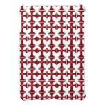 Cruz con la flor de lis - rojo iPad mini carcasas