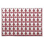 Cruz con la flor de lis - rojo mantel individual
