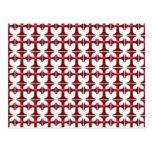 Cruz con la flor de lis - rojo tarjeta postal