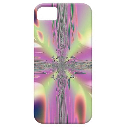 Cruz con las llamas espirituales iPhone 5 cobertura