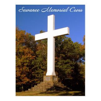 Cruz conmemorativa de Sewanee, postal del TN