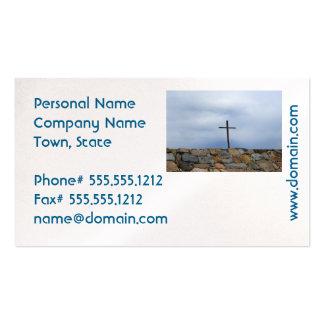 Cruz conmemorativa tarjetas de visita