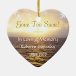 Cruz Conmemorativo-Santa de la memoria cariñosa Adorno De Cerámica En Forma De Corazón
