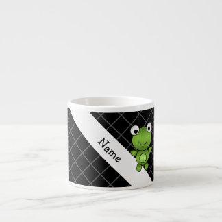 Cruz conocida personalizada de los criss del negro taza espresso
