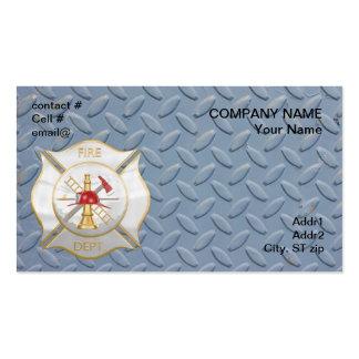 Cruz contraincendios maltesa de la plata y del oro tarjetas de visita