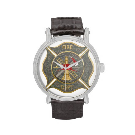 Cruz contraincendios maltesa del camuflaje reloj de mano