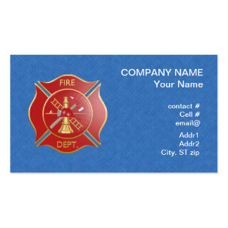Cruz contraincendios maltesa roja tarjetas de visita
