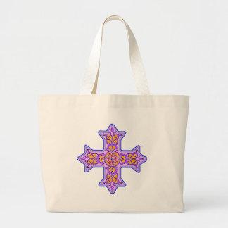 Cruz copta en colores pastel magnífica bolsa de mano