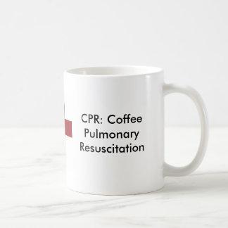 cruz CPR Resucitación pulmonar del café Tazas