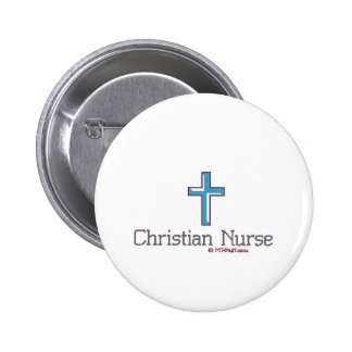 Cruz cristiana 1 de la enfermera pin redondo de 2 pulgadas