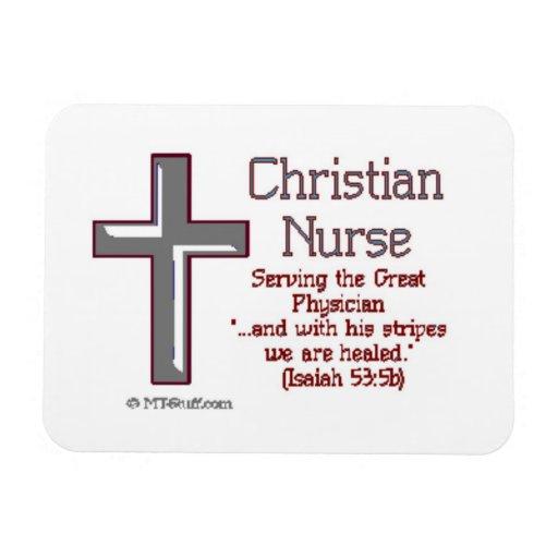 Cruz cristiana 2 de la enfermera imán flexible