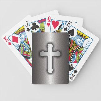 Cruz cristiana (acero) baraja cartas de poker