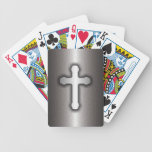 Cruz cristiana (acero) cartas de juego