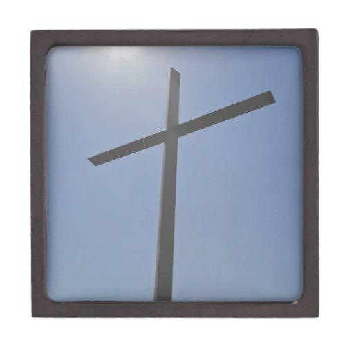 Cruz cristiana caja de recuerdo de calidad