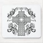 Cruz cristiana céltica alfombrillas de ratón