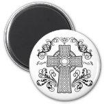 Cruz cristiana céltica iman para frigorífico