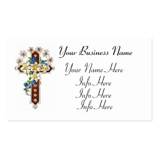 Cruz cristiana con halo tarjetas de visita
